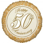 "50th ANNIVERSARY BALLOON  18""  15182-18"